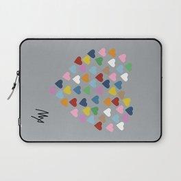 Hearts Heart Multi Grey Laptop Sleeve