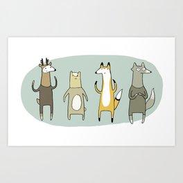Forest Fauna Art Print
