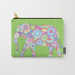 Elephant Flower Doodle Carry-All Pouch