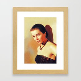 Marianne Koch, Vintage Actress Framed Art Print