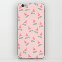 watermelon iPhone & iPod Skins featuring Watermelon by Menina Lisboa
