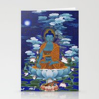 medicine Stationery Cards featuring Medicine Buddha by Kalsang Dawa