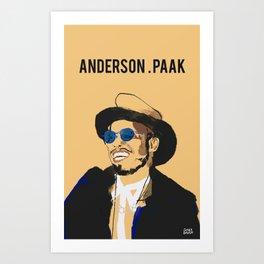 Anderson .Paak Art Print