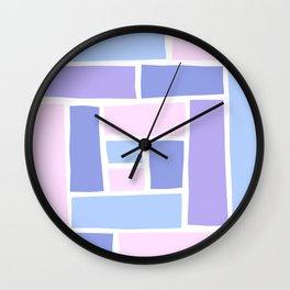 Lilac Mozaic Wall Clock