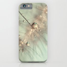 dandelion mint iPhone Case