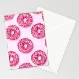 Pink Donuts Stationery Cards