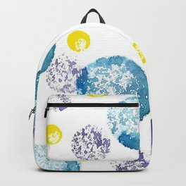 Teal, Purple and Yellow circles Backpack