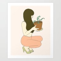 Pink and Alive Art Print