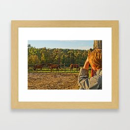 Watching the Boys Framed Art Print