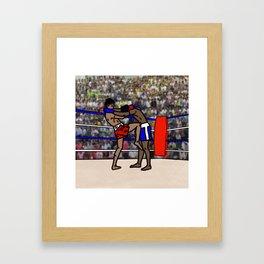 Muay Thai Fighters Framed Art Print