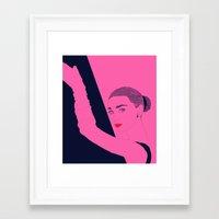 hepburn Framed Art Prints featuring Hepburn by Agnes Domokos