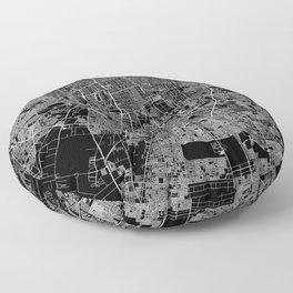 Santiago Black Map Floor Pillow