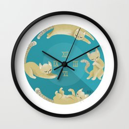 A Cat's Day Wall Clock