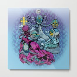 The Aqualine Water Tribe of The Southern Oceans Abyss Metal Print