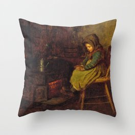 Home And Warmth - Eastman Johnson Throw Pillow