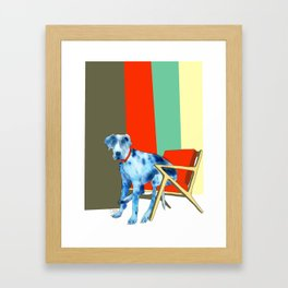 Great Dane in Chair #1 Framed Art Print
