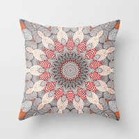 mandala Throw Pillows featuring manDala by Monika Strigel