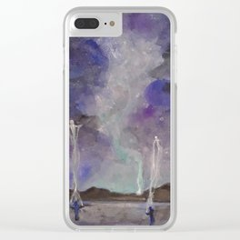 Spirit Walkers Clear iPhone Case
