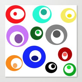 Cirlces within Circles Canvas Print