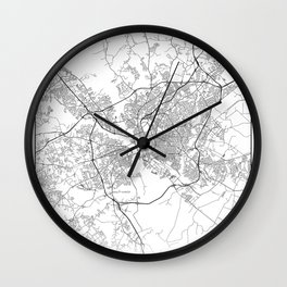 Minimal City Maps - Map Of Columbia, South Carolina, United States Wall Clock