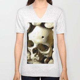 skull hole Unisex V-Neck