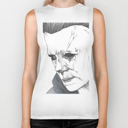 Happy Halloween, Michael Myers Portrait Biker Tank