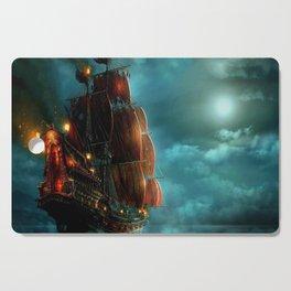 Pirates on sea Cutting Board