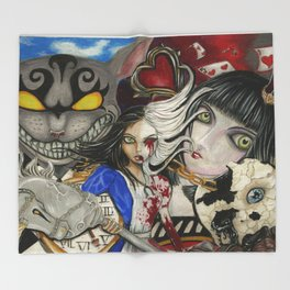 Alice the madness returns Throw Blanket