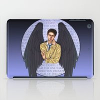 castiel iPad Cases featuring Castiel by White Magician