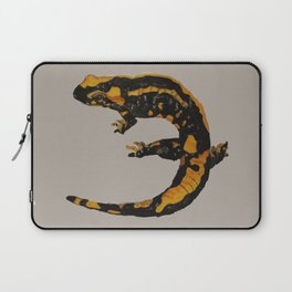 Watercolor drawing of a fire salamander Laptop Sleeve
