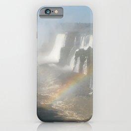 Iguazu Iguassu Waterfall Rainbow Landscape Panorama Scenery iPhone Case