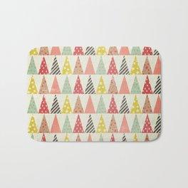 Whimsical Christmas Trees Bath Mat