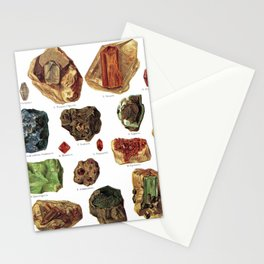 Vintage Gems And Minerals Stationery Cards