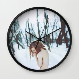Pale as snow Wall Clock