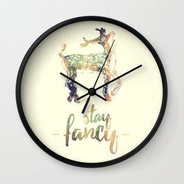 Stay Fancy, Deer Wall Clock