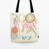 dream catcher Tote Bags featuring Dream Catcher by famenxt