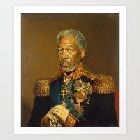 Morgan Freeman - replaceface Art Print