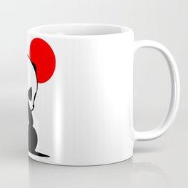 Shy Panda in the Red Sun Coffee Mug