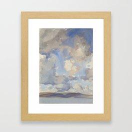 Clouds by John Singer Sargent, 1897 Framed Art Print