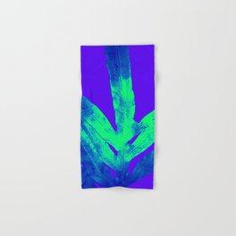 Blue Ultraviolet Green Earth Day Fern Hand & Bath Towel