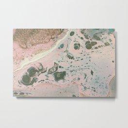Dirty Acrylic Paint Pour 19, Fluid Art Reproduction Metal Print