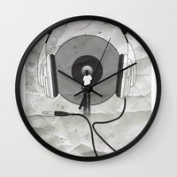 afro Wall Clocks featuring vinyl afro by Vin Zzep