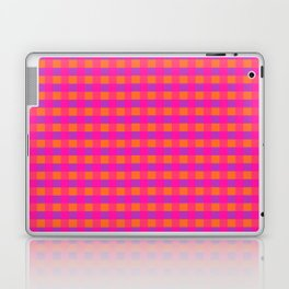 Jazzy Checks in Orange, Pink and Purple Laptop & iPad Skin