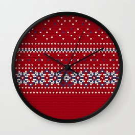 Pattern in Grandma Style #63 Wall Clock