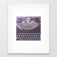 typewriter Framed Art Prints featuring Typewriter by Jessica Torres Photography