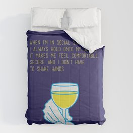 Curb Your Enthusiasm Quote Drinking Awkward Comforters