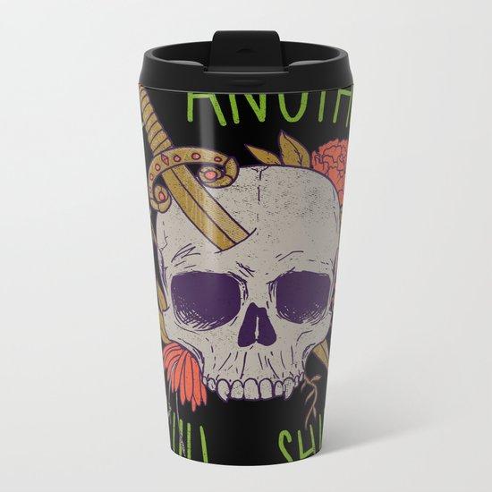 Yet Another Skull Shirt Metal Travel Mug