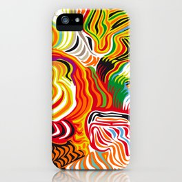 colored flow iPhone Case