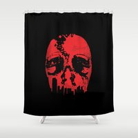 robocop Shower Curtains featuring Robocop: Motorcity Justice by The Cracked Dispensary