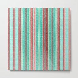 Beachhouse Stripe Metal Print